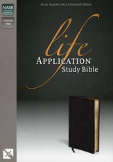 NAS Life Application Study Bible, Bonded leather, Black