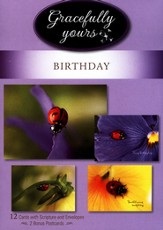 Happy Birthday/Ladybugs/Box of 12