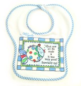 Personalized, God Saw All He Made Bib, Blue