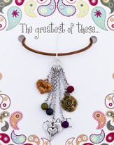 The Greatest of These Is Love Leather Necklace