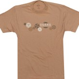 Grow Exalt Ask Receive Serve Shirt, Brown, Small
