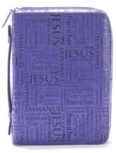Names Of Jesus Bible Cover, Purple, X-Large