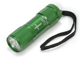 Personalized, Nail Cross Flashlight, Green
