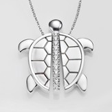 Trinity Turtle Necklace