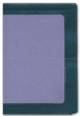 NKJV Super Giant-Print Reference Bible--soft leather-look, charcoal/lavender (indexed)