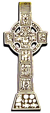 Bronze Celtic Wall Cross, 7 Inch
