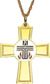 Presbyterian Cross, Gold Plated with 24 Inch Chain