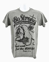 Be Stong and Courageous,  Shirt, Gray, Small