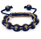 Cross Bead Bracelet, Blue