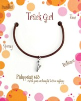Track Necklace, Philippians 4:13