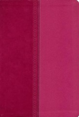 NKJV Giant Print Center-Column Reference Bible, Imitation Leather, Raspberry