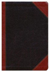 NKJV Giant Print Center-Column Reference Bible, Imitation Leather, Expresson/Auburn - Imperfectly Imprinted Bibles