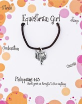 Equestrian Necklace, Philippians 4:13