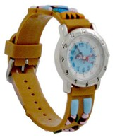 David and Goliath Child's Watch, Brown