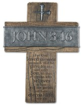 John 3:16 Wall Cross, Large