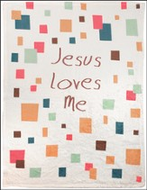 Jesus Loves Me Throw, White