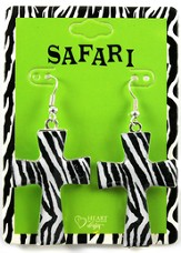 Zebra Cross Earrings