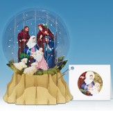 Pop-Up Snow Globe Greeting, Nativity