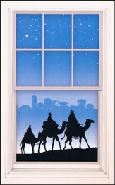 Silhouette Magi Window Poster