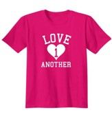 Love One Another, Shirt, Heliconia, Large