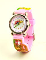 Noah's Ark Child's Watch, Pink