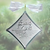 Silent Night Christmas Carol Silver Ornament