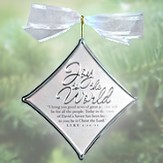 Joy to the World Christmas Carol Silver Ornament