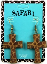 Giraffe Cross Earrings