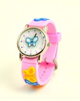 Butterfly Child's Watch, Pink