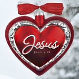 Jesus the Heart of Christmas, John 3:16 Ornament, Gift Boxed