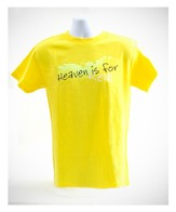 Heaven is For Real Shirt, Yellow, Youth Large
