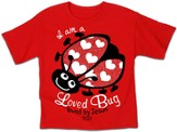 I Am A Loved Bug Shirt, Red, 5T