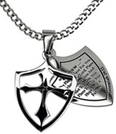 I Know Shield Cross Necklace