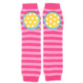 Happy Knees Legwarmers, Double Bubble Stripe, Pink, Light Pink, Yellow