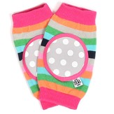 Happy Knees, Rainbow Ring Pop Stripe, Pink, Green, Gray