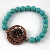 Thankful, Turquoise Beaded Bracelet