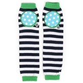 Happy Knees Legwarmers, Macho Mint Stripe, Navy and White