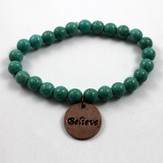 Believe, Turquoise Beaded Bracelet