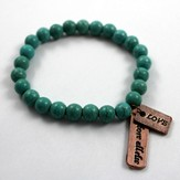 Love Above All Else, Turquoise Beaded Bracelet