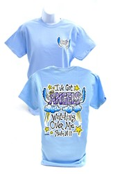 Girly Grace Angels Shirt, Blue  Small