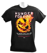 Hunger For God Shirt, Black, Large