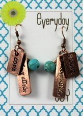 Love Above All Else, Copper Toned Earrings