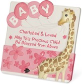 Cherished and Loved, Baby Girl Plaque
