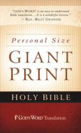 GOD'S WORD Personal-Size Giant-Print Bible, hardcover