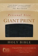 GOD'S WORD Personal Size Giant Print Bible, Duravella, black