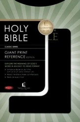 NKJV Personal Size Giant Print Reference Bible, Black Imitation Leather