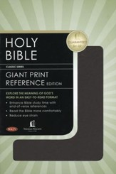 NKJV Personal Size Giant Print Reference Bible Burgundy Bonded Leather - Imperfectly Imprinted Bibles