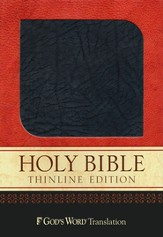 God's Word Thinline Bible, Bonded leather, charcoal