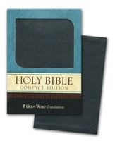 GOD'S WORD Compact Bible--soft leather-look, black