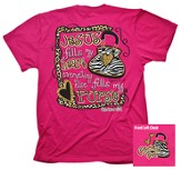 Jesus Fills My Heart, Purse Shirt, Pink, Medium